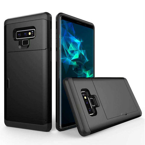 Samsung Galaxy Note 9 Pure Color Creative Phone Case With Card Holder gallery 1