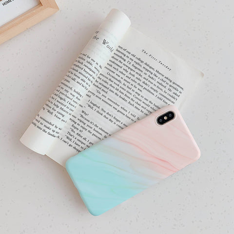 Gradient Shockproof Marble Phone Case for Samsung with Phone Holder gallery 10
