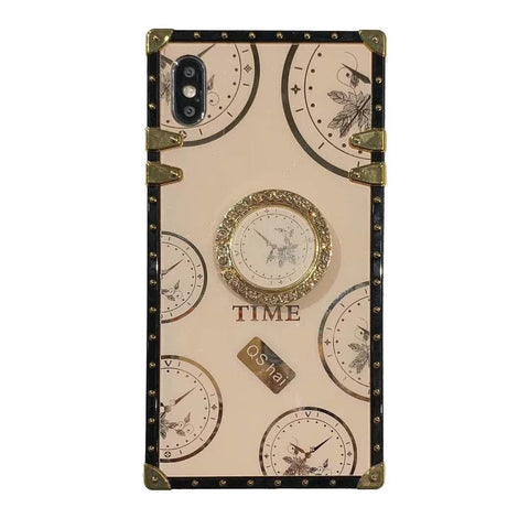 Clock Design Square Phone Case for Samsung with Phone Holder gallery 9