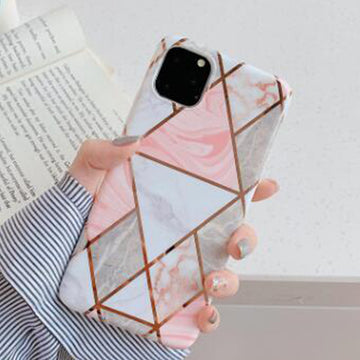 Geometry Marble Patch Phone Case For iPhone