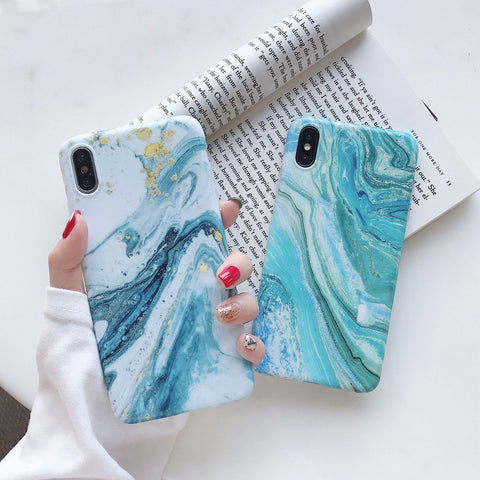 Ocean Marble Printed Phone Case For iPhone