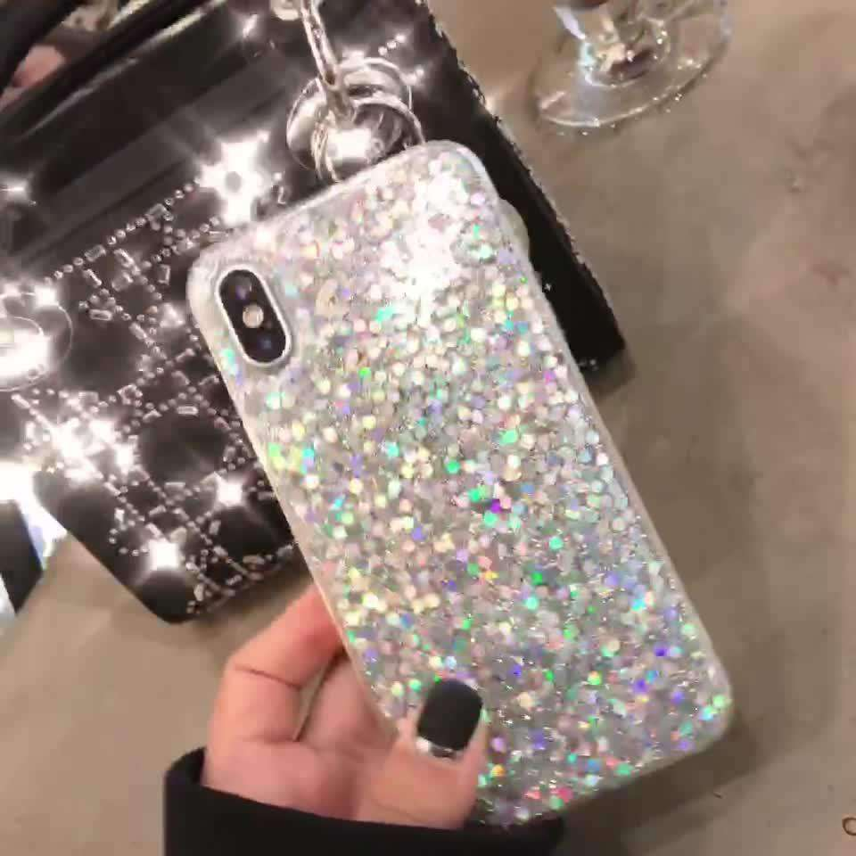 Sparkly Glitter Bling Powder Diamond Paillette iPhone Case