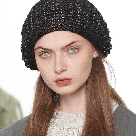 Solid Color Cable Knit Beanie gallery 1