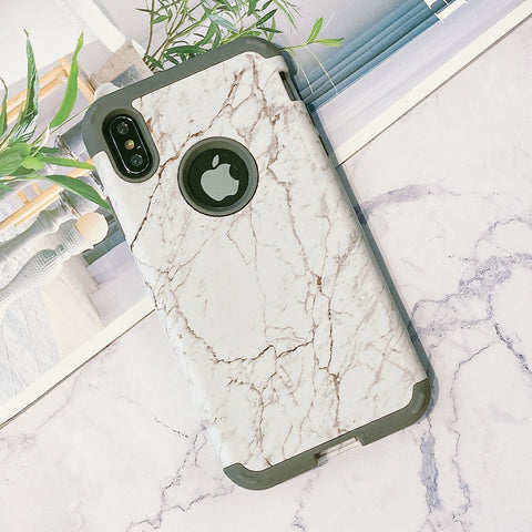 Marble Style Logo Expose Design iPhone Case