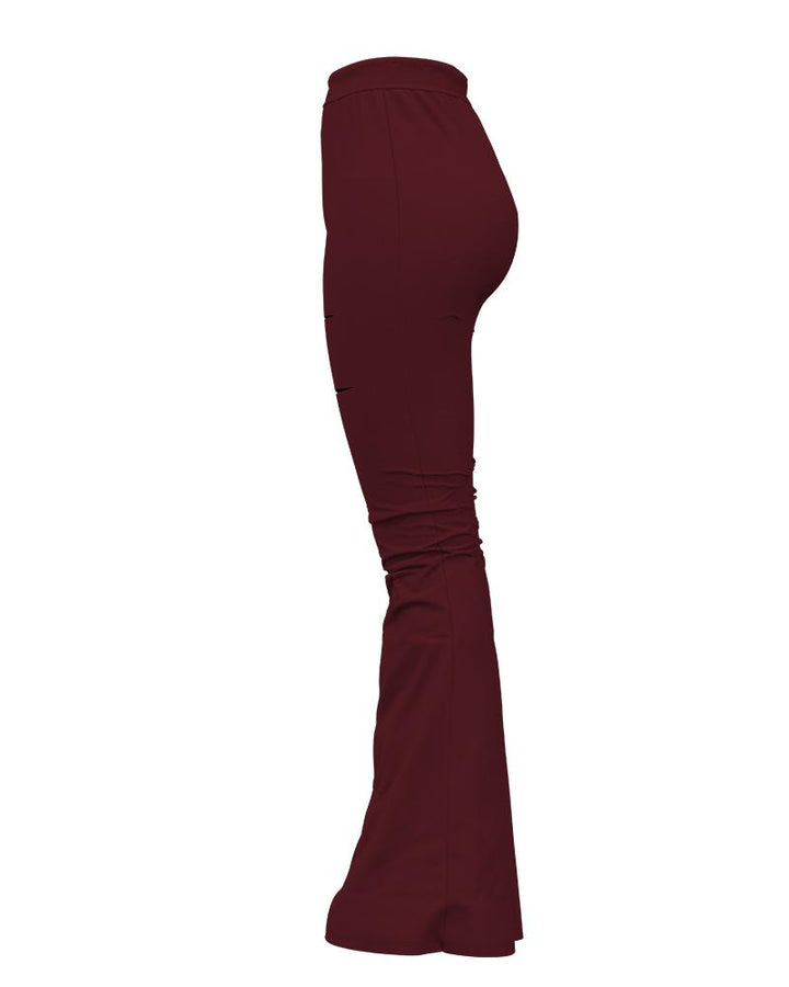 Solid Cut Out High Waist Flare Pants gallery 7