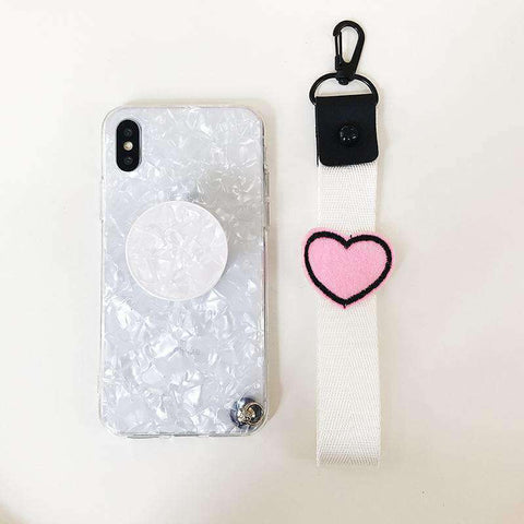 Marble Stone Pattern Phone Case for Samsung with Phone Holder and Strap gallery 5