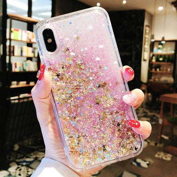 Chic Glitter Bling Liquid  Phone Case For All iPhone