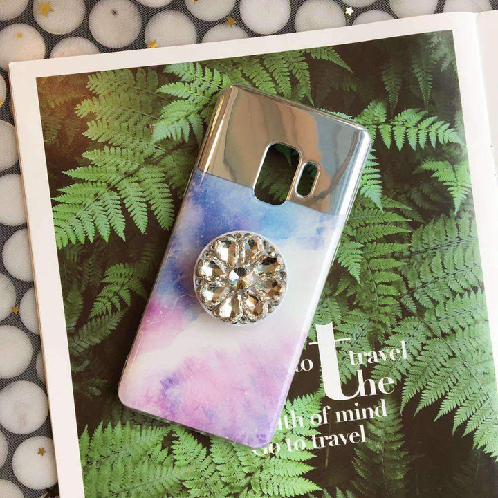 Dreamy Mirror Design Phone Case for Samsung with Phone Holder gallery 2