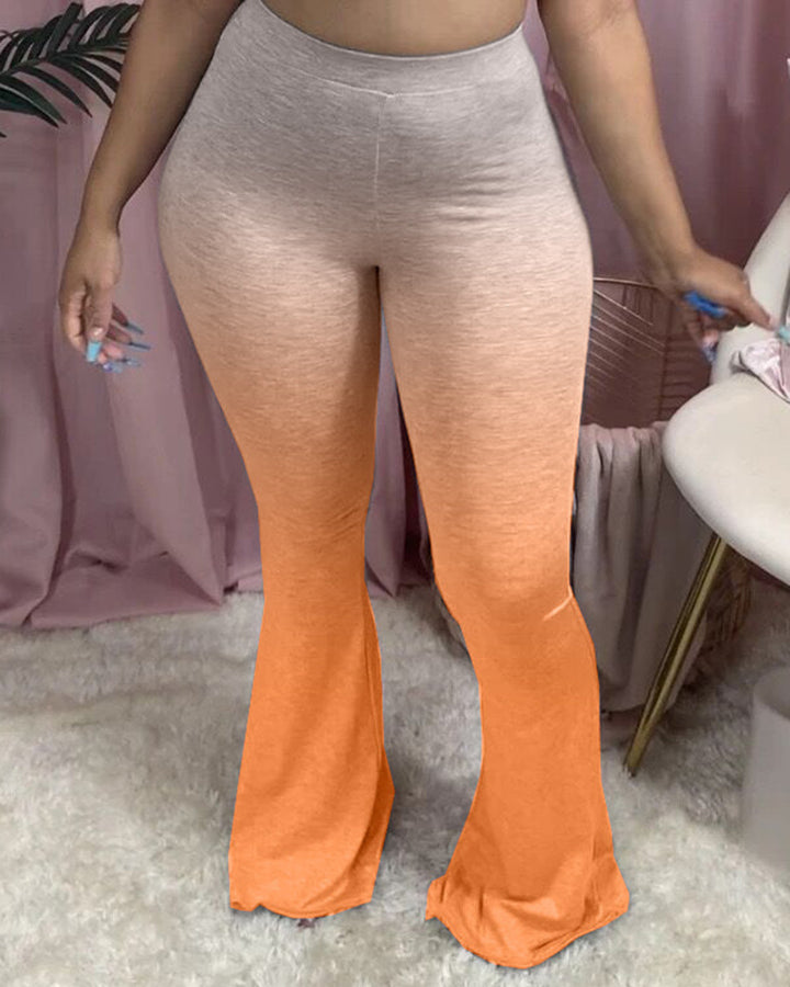 Ombre High Waist Flare Pants gallery 5