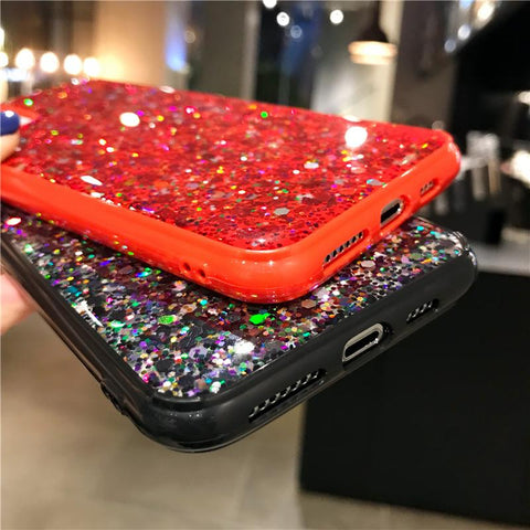 Luxury Sparkle Sequins Bling Shockproof Phone Case for Samsung gallery 7