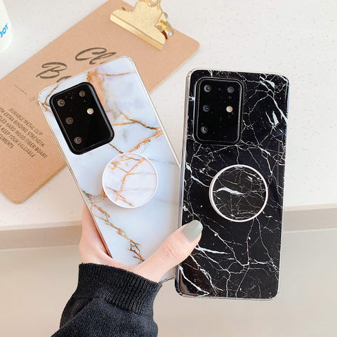 Smooth Marble Crack Detail Phone Case with Phone Holder gallery 4