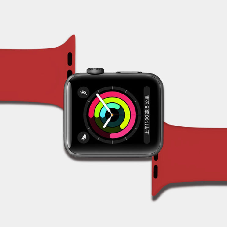 Pure Color Soft Silicone Band Replacement for iWatch