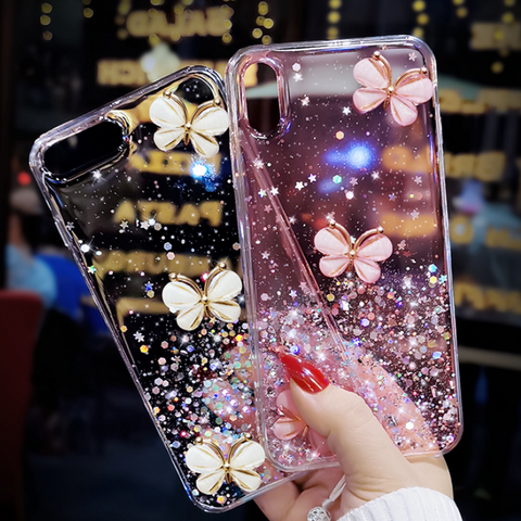 Sparkle Liquid Rhinestone Butterfly Phone Case for Samsung gallery 4