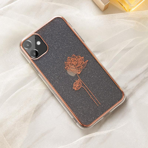 Cute Electroplate Floral/Letter Pattern Phone Case for Samsung gallery 3
