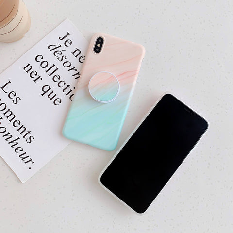 Gradient Shockproof Marble Phone Case for Samsung with Phone Holder gallery 4
