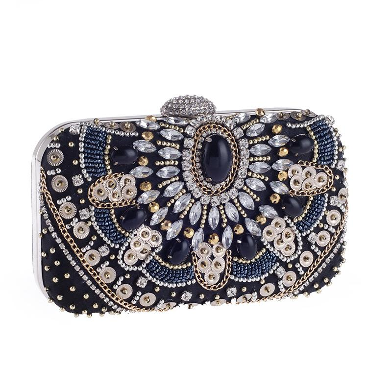 Boho Style Glitter Evening Bag Clutch Purses