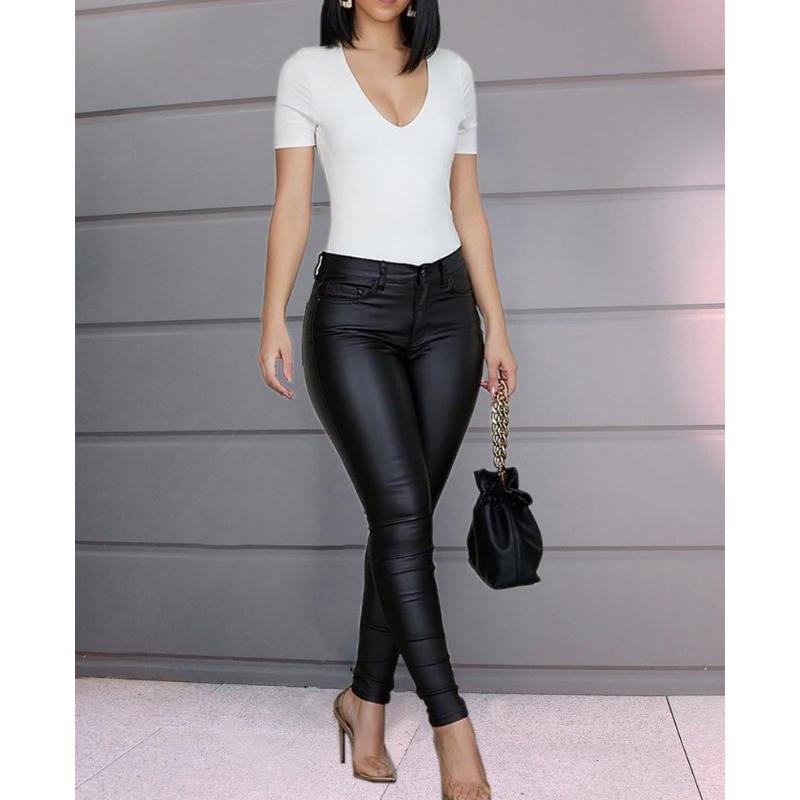 Classic High Waist Solid Jeggings