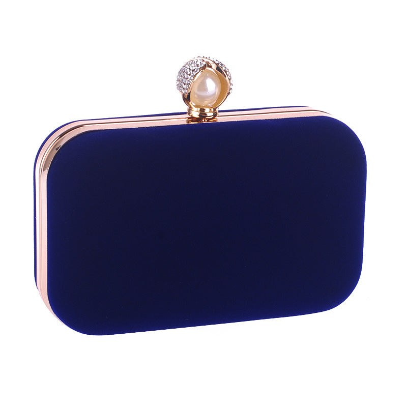 Velvet Surface Evening Bag Clutch Purses