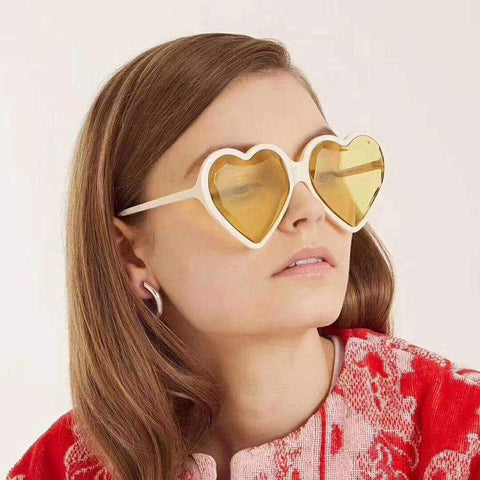 Candy Color Ombre Heart Shape Lens Sunglasses gallery 1