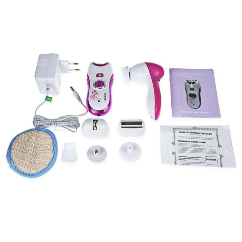 Rechargeable Cordless Multifunctional Epilator Defeatherer Shaver Facial Cleansing Instrument for Lady gallery 4
