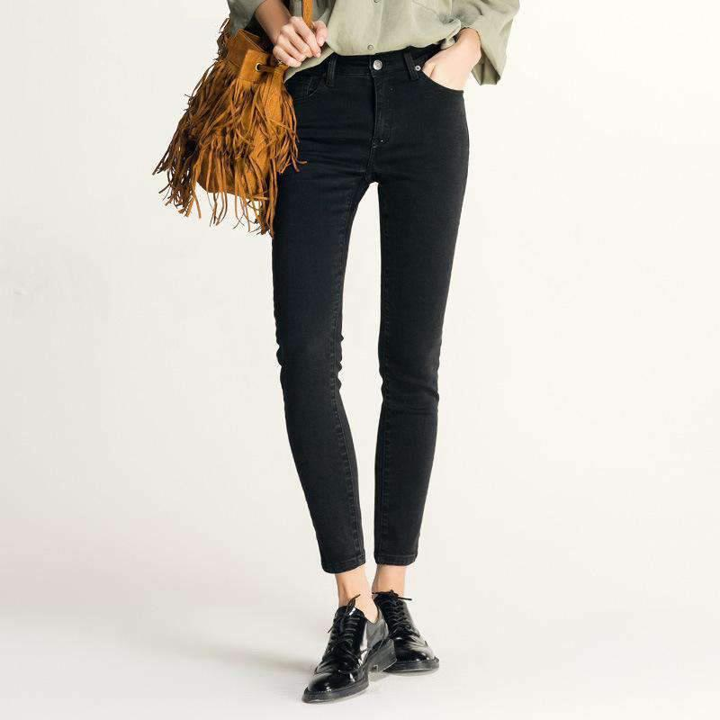 Buy One Get One 50% Off High Waist Jeans In Black