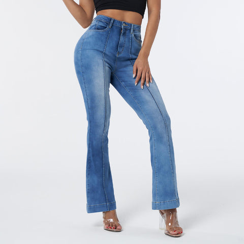 Elastic Butt Lifting Flare Jeans