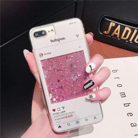Creative Chat Page Designed Liquid Bling Glitter Samsung Case gallery 2