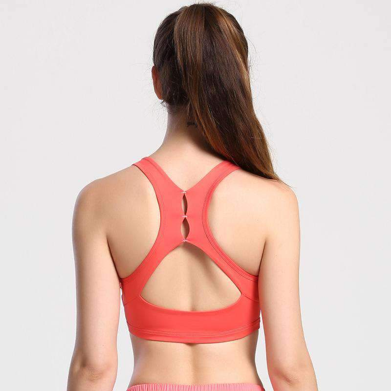 For Sports Yoga Seamless Cross Back Vest Bra With Bra Pads