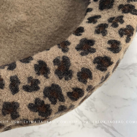 Leopard Print Beret for Winter gallery 5