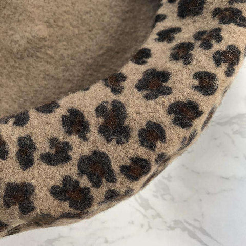 Leopard Print Beret for Winter gallery 1