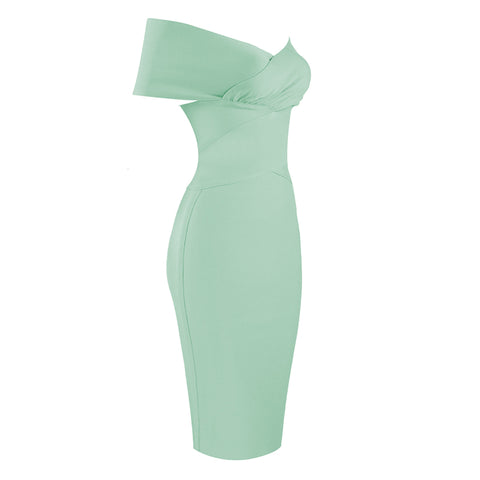 Sexy Mint Off Shoulder Bodycon Party Dress gallery 3
