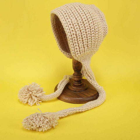 Hand-made Cute Warm Knitted Woolen Ear Hat with Long Braid gallery 9