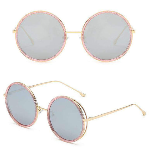 Circle Shape Lens with Wire Side Sunglasses gallery 7