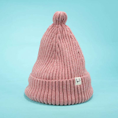 Smile Face Stitch Knit Beanie Hat gallery 4