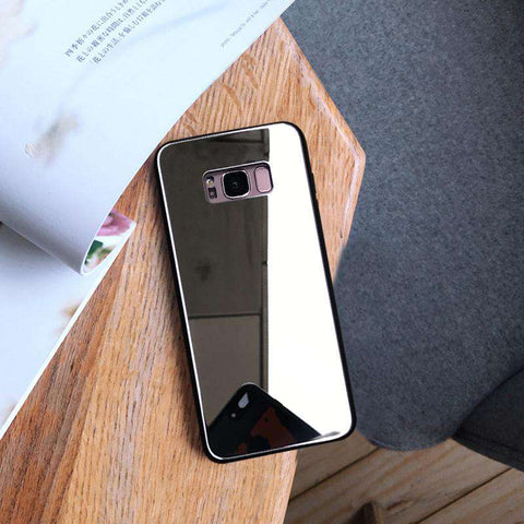 Mirror Tempered Glass Phone Case for Samsung gallery 4
