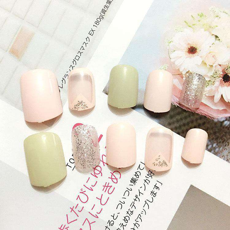 Matcha Latte Magic Press On Nail Manicure