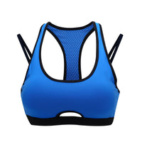 Breathable Cut Out Medium Impact Racerback Sports Bra