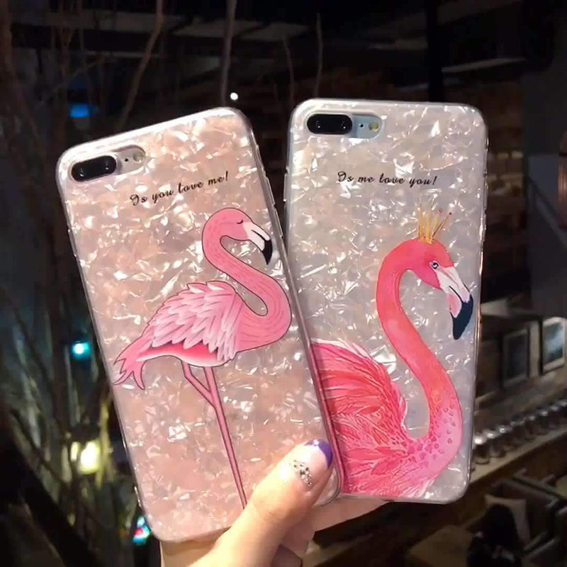 Flamingo iPhone Case with Phone Holder
