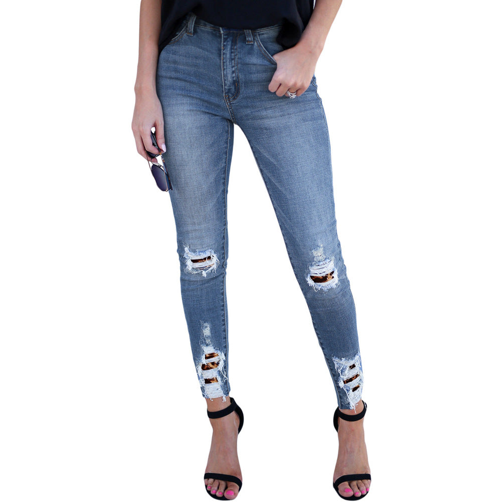 Mid Wash High Waist Skinny Jeans