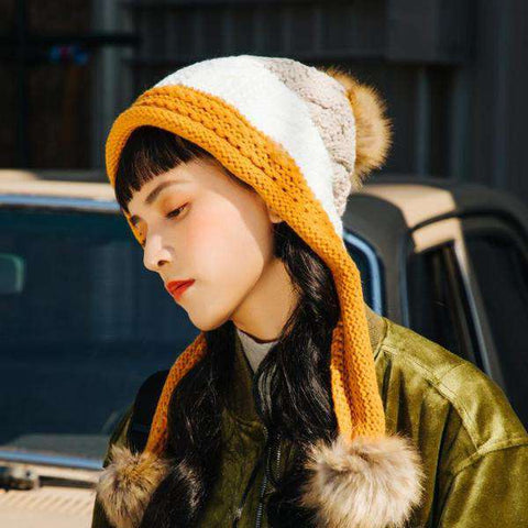 Women's Winter Cute Assorted Color Warm Thick Hat gallery 1