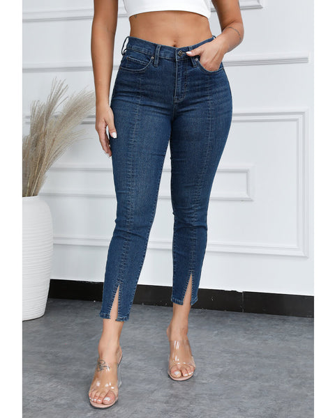 Chic Split Hem Butt Lifting Jeans