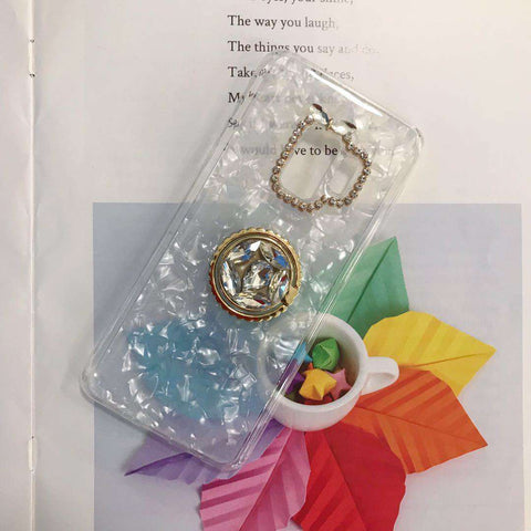 Glitter Foil Inside & Camera Protect With Rhinestone Side Phone Case for Samsung gallery 4