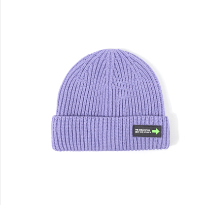 6 Colors Rib Knit Cuffed Beanie Hat With Tag gallery 5