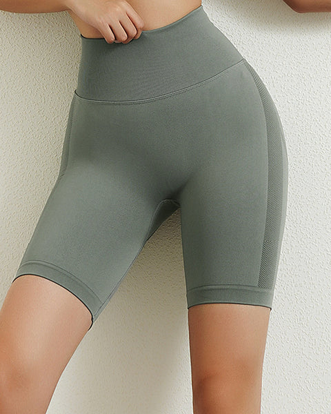 Space Dye Textured Seamless Butt Lifting Sports Shorts gallery 6