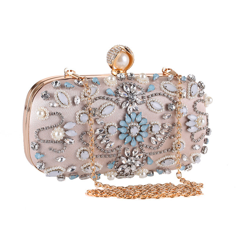 Handmade Glitter Beads Evening Bag Clutch Purses