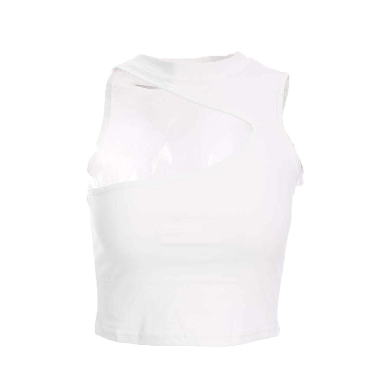 One-shoulder Fitted Crop Top