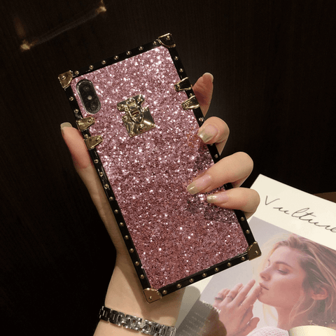 Sparkle Sequins Detail Square Phone Case for Samsung gallery 7