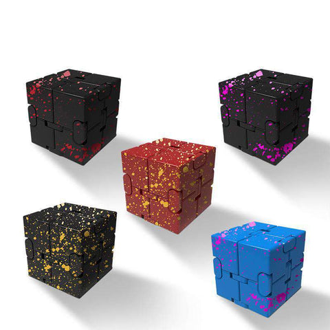 Colored Decompression Fidget Infinity Cube gallery 1