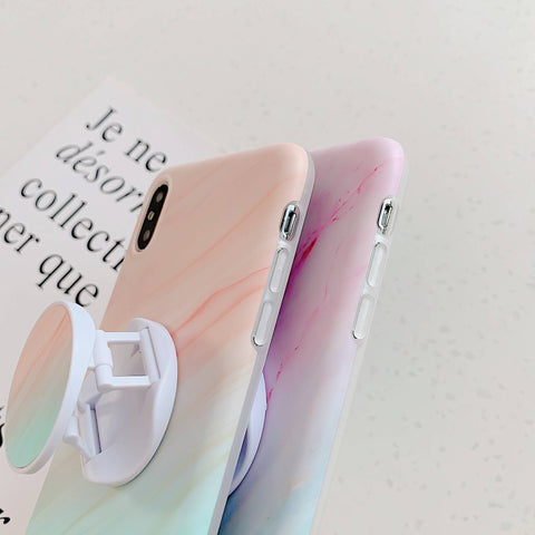 Gradient Shockproof Marble Phone Case for Samsung with Phone Holder gallery 9