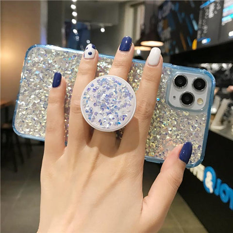 Four Colors Glittering Rhinestone Phone Case for Samsung with Phone Holder gallery 8